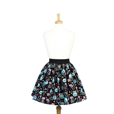 Day of the Dead Kitty Pleated Skirt #PS-C332