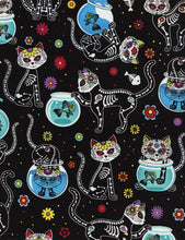 Load image into Gallery viewer, Day of the Dead Kitty Pleated Skirt #PS-C332