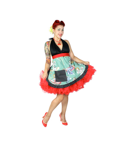 Pin up Zombie Beauties and Brains apron #AZ200