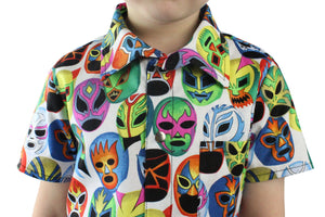 Boy's Lucha Libre Masks Snap Top #BT-LL605