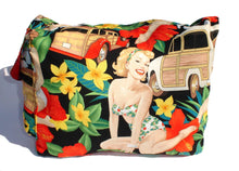 Load image into Gallery viewer, Hawaiian pinup girls messenger bag #MB505