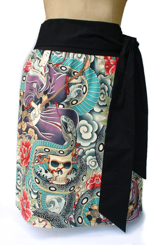 Tattoo Art Zen Charmer Geisha Japanese Skirt #S-TH773