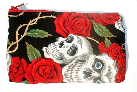 Tattoo Art Skulls and Roses Wallet #W214