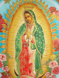 Mexican Virgin Mary Guadalupe throw Pillow rockabilly #P208