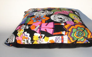 Day of the Dead -Dia De Los Muertos throw Pillow rockabilly #P242