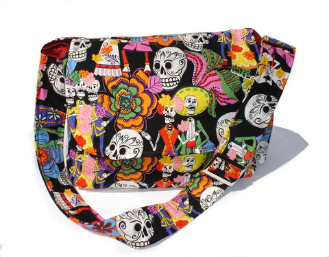 Catrinas and Catrinos Skulls Messenger Bag #MB525