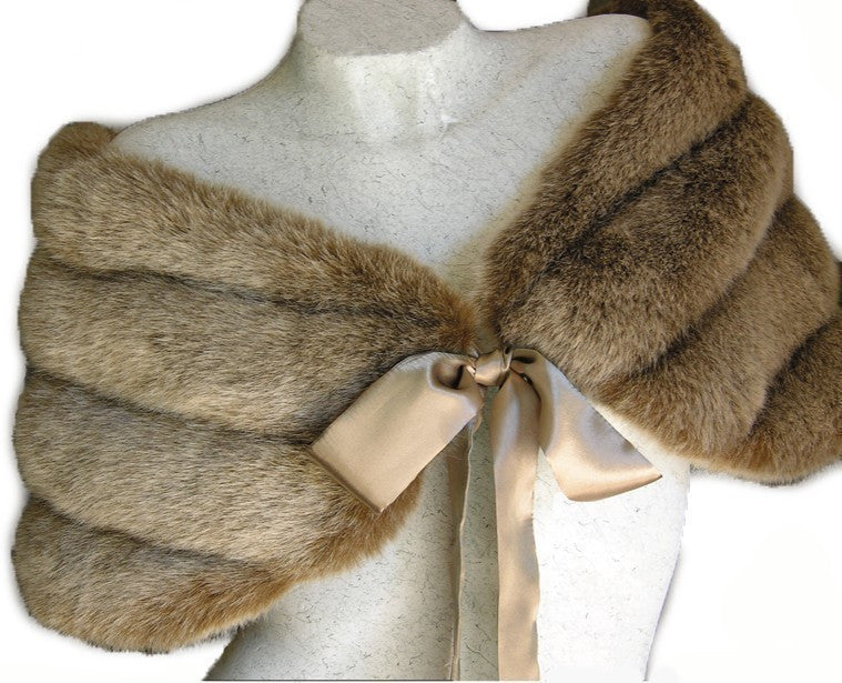 Faux Fur Fox Shawl/Stole #FS-890