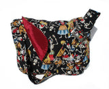 Skulls & Instruments Messenger Bag #MB524