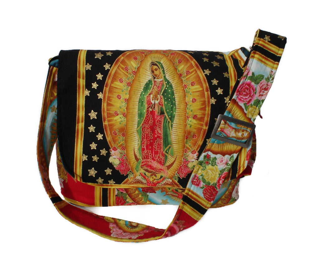 Guadalupe Virgin Mary Mexican Art Messenger Bag #MB548