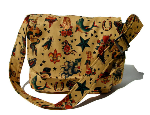 Tattoo Art Messenger Bag #MB529