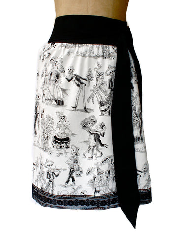 Black and White Day Of The Dead Inspired Skirt #S-TH720