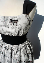 Load image into Gallery viewer, Day of the Dead / Mexican Dia de Los Muertos Inspired Retro Dress / Rockabilly Dress #D-RS720