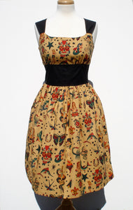 Tattoo Art Vintage Inspired Dress /  Rockabilly Pinup Dress #D-RS732