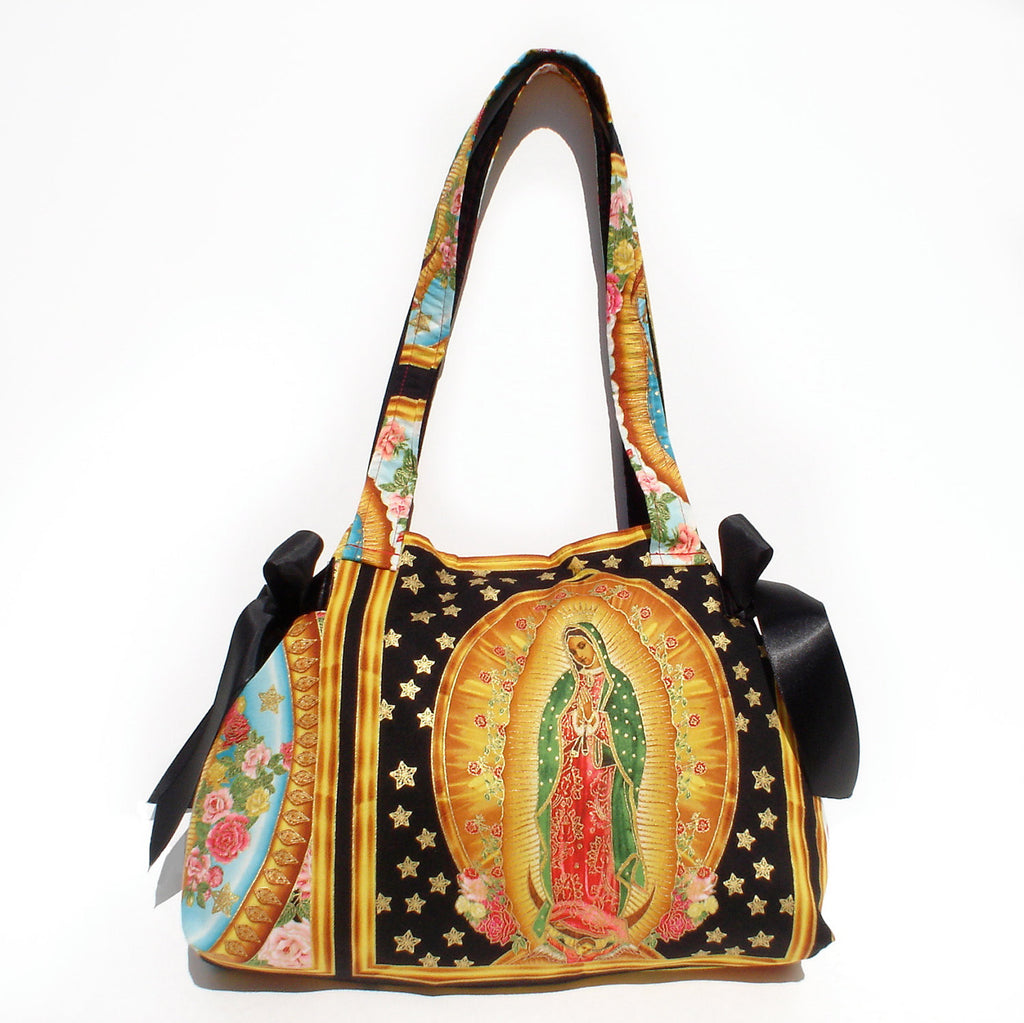 Mexican Guadalupe Virgin Mary Panel  Bag / Purse #B314