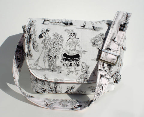 Day of the Dead / Dia de los Muertos Inspired Messenger Bag #MB539