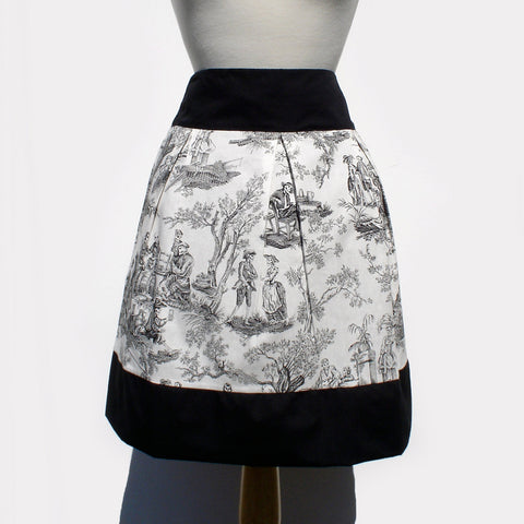 Skirt Day of the Dead Midnight Pastoral Skull Skirt #S-RS739