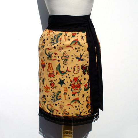 Tattoo flash art print skirt #S-TH732