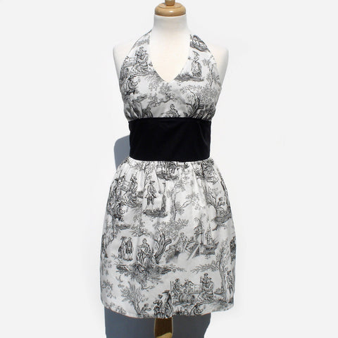 """Icing on the Cake"" Midnight Pastorial Rockabilly Dress #D-PU739"
