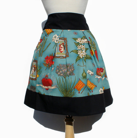 Viva Frida Blue Skirt #S-RS738
