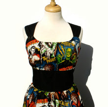 Load image into Gallery viewer, Rockabilly Pinup Dress /  Hollywood Monster Dress #D-RS712