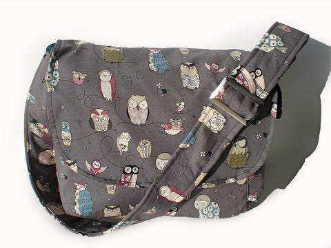 Gray Owl Messenger Bag #MB508