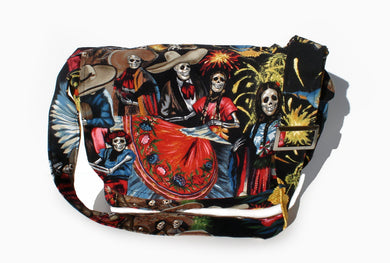 San Marcos  Day of The Dead  Messenger Bag #MB532