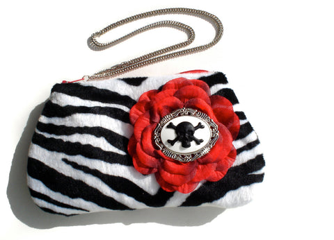 Zebra Cameo Black and Red Wrist-let #W224