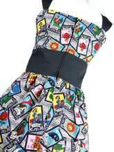 "Load image into Gallery viewer, ""Riding Shotgun"" Mexican Loteria Dress #D-RS726"
