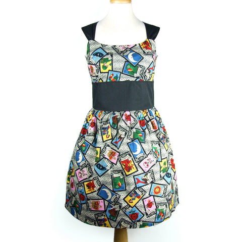 """Riding Shotgun"" Mexican Loteria Dress #D-RS726"