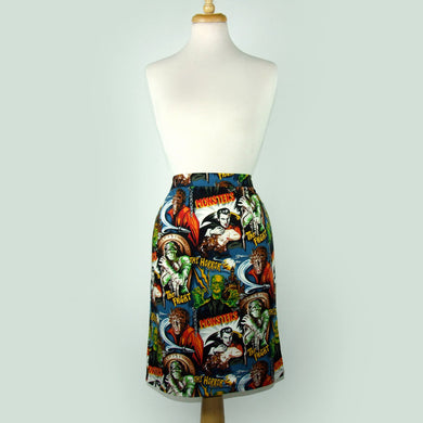 Pinup Hollywood Monsters Pencil Skirt #S-PP712