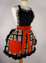Load image into Gallery viewer, Cartas Marcadas Apron Day of the Dead Apron #A996