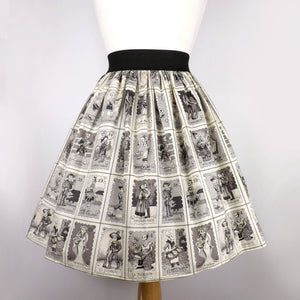 Skirt on mannequin, Pictured from the back