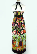 Load image into Gallery viewer, Mexican Print Maxi Dress / Frida Day of the Dead Long  Dress #D-MD905