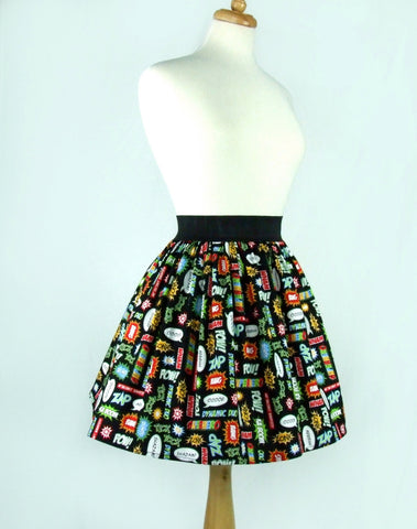 Super Hero  Inspired Pleated Skirt #S-AP907