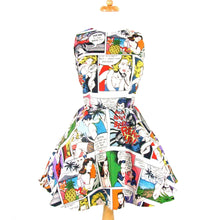 Load image into Gallery viewer, Pinup Comic Strip Skater Dress #SD-CS901