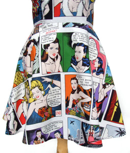 Pinup Comic Strip Skater Dress #SD-CS901