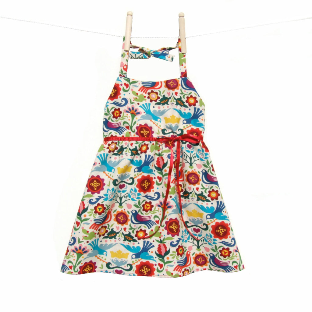 Girl's Halter Doves and Flowers Dress #GD-850