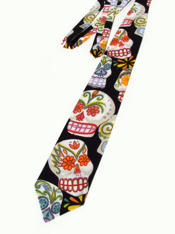 Sugar Skull Day of the Dead Necktie | Mens Tie #T-703