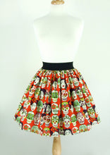 Load image into Gallery viewer, Frida Day of the Dead Skulls Skirt #S-AP853