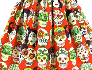 Frida Day of the Dead Skulls Skirt #S-AP853
