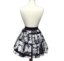 Load image into Gallery viewer, Comic Strip Retro Inspired Skirt #S-AP945