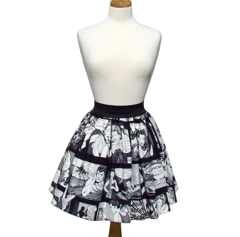 Comic Strip Retro Inspired Skirt #S-AP945