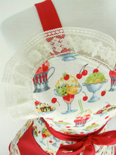 Load image into Gallery viewer, Vintage Ice Cream Parlor Apron / Retro 2 Tier Apron #A-2T660