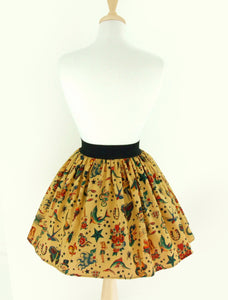 Pleated Tattoo Skirt #S-AP732