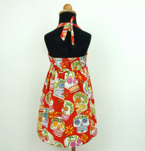 Load image into Gallery viewer, Girls  Red Sugar Skulls Dress #GD-SS847