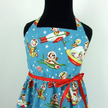 Load image into Gallery viewer, Vintage Inspired  Blue Spaceship Girl's Dress #GD-BS423