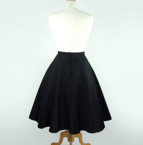 Circle skirt on mannequin, Pictured from the back