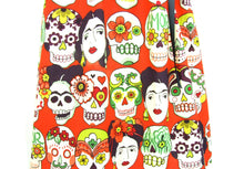 Load image into Gallery viewer, little girl's Frida and  Skulls Dress #GD-FK987