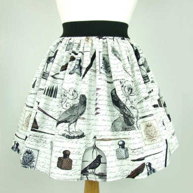 Nevermore A-line pleated  Skirt #S-AP232
