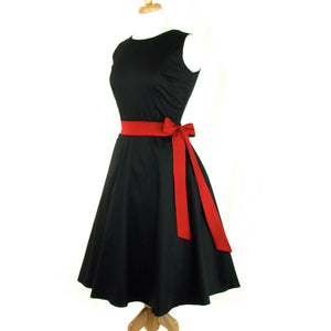 Classic Black Full Circle Dress #DSCF4391